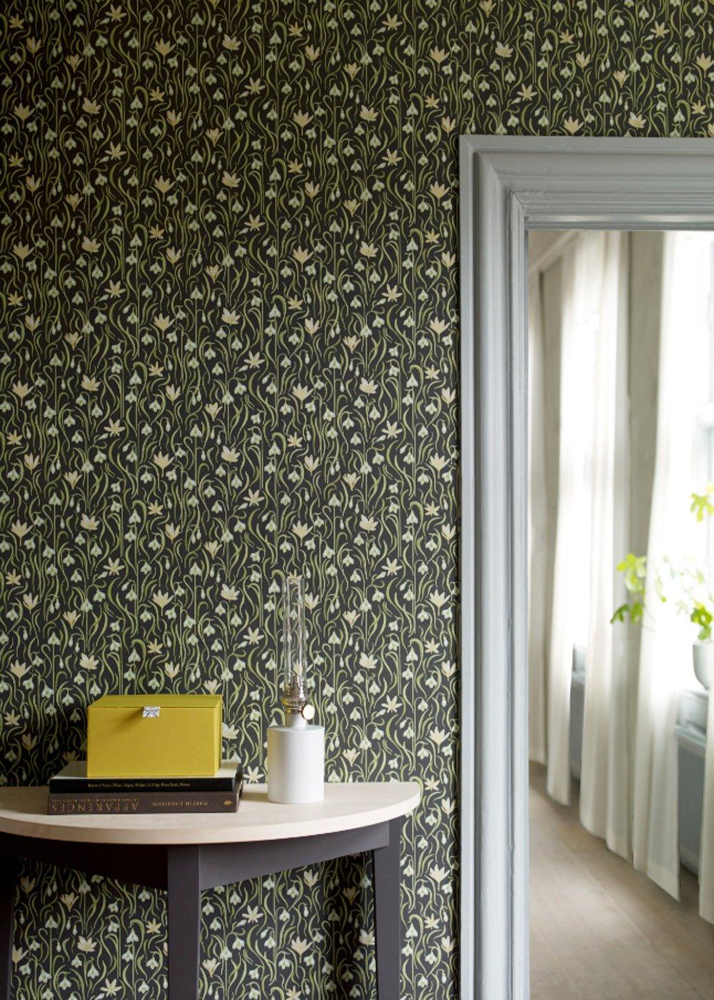Inspiration  le papier peint fleuri ou  motif vgtal