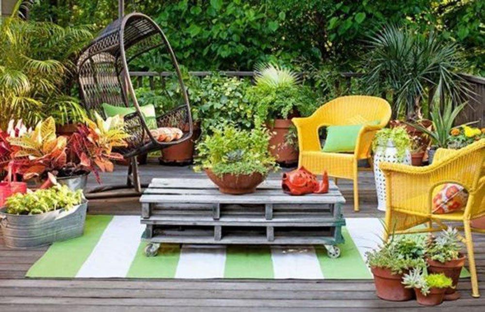 Fauteuils En Rotin Colores Terrasse