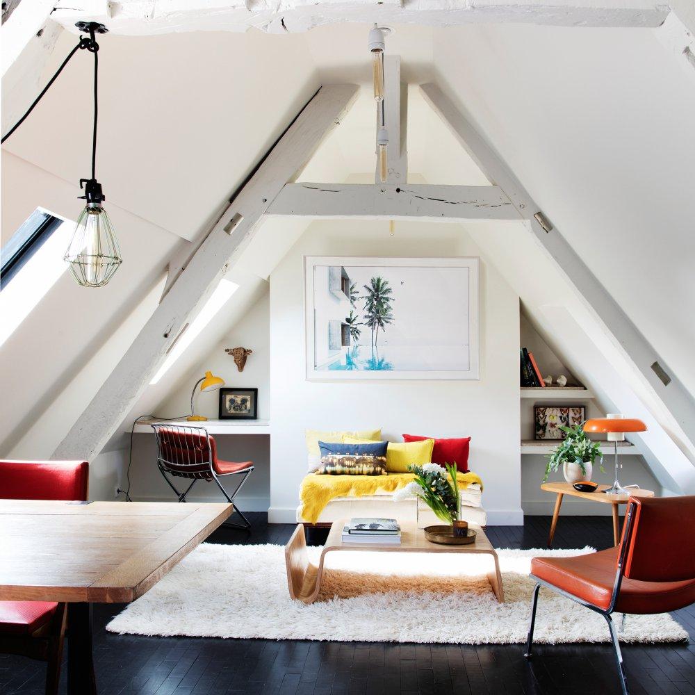 Appartement sous les toits  Paris  Marie Claire