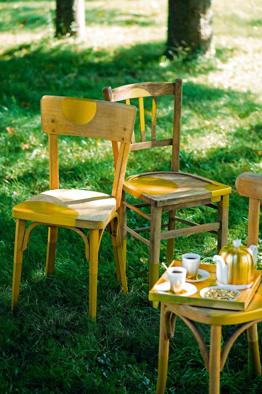 des chaises en habit dore marie claire