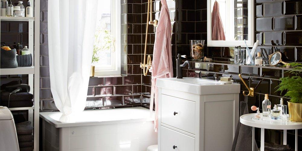 Les indispensables pour une petite salle de bains rtro  Marie Claire
