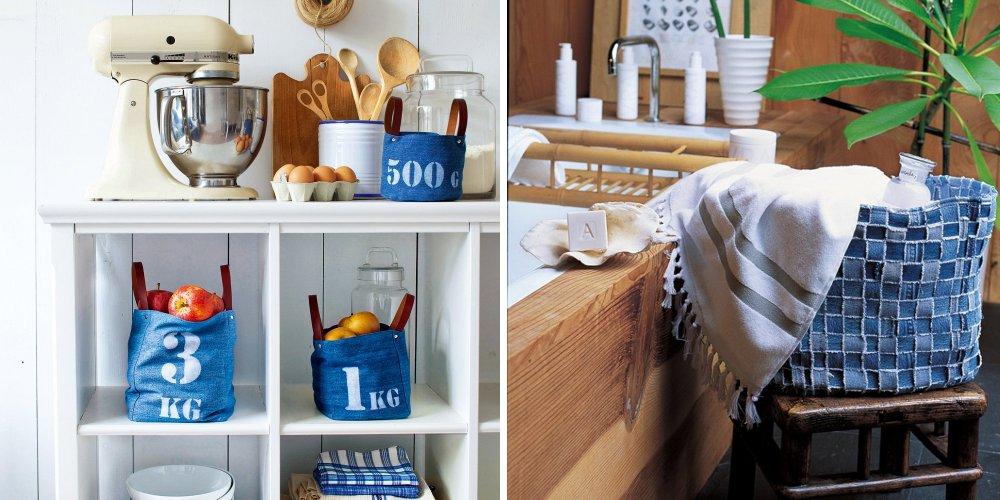 rien ne se perd rien ne se cree tout se transforme le jean trouve une seconde vie dans la maison ou sur nos accessoires decouvrez 28 diy deco pour