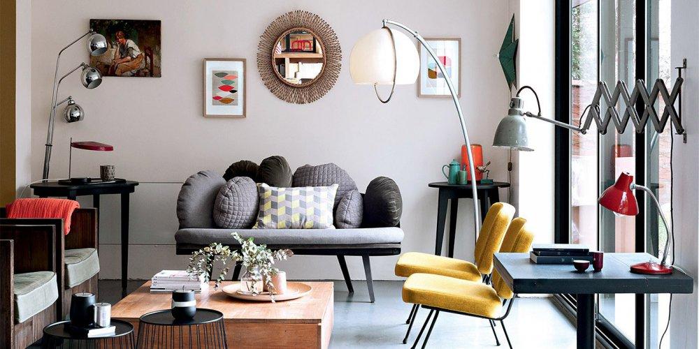 Salon Moderne Mixant Les Styles Marie Claire