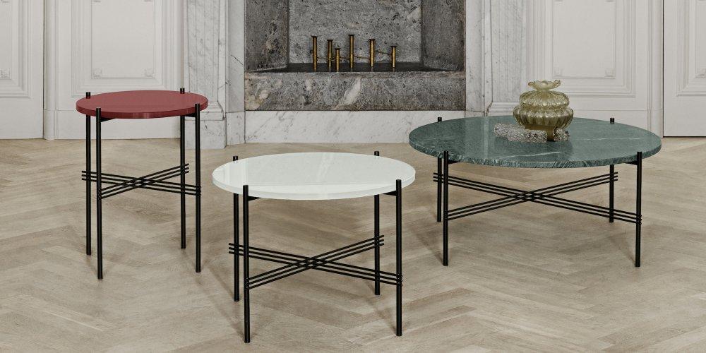 table basse ronde pour un salon cosy