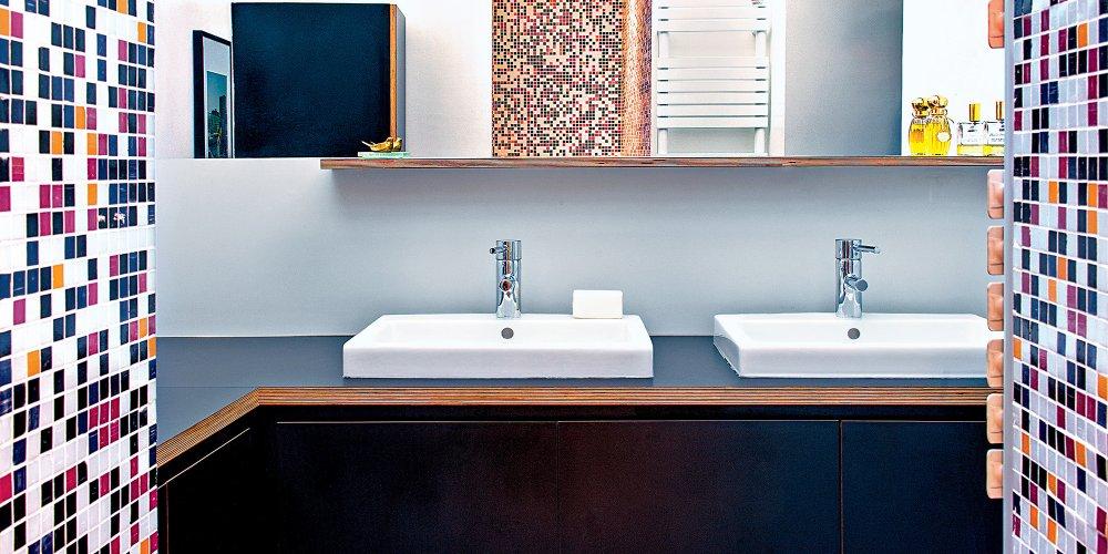 mural de salle de bains