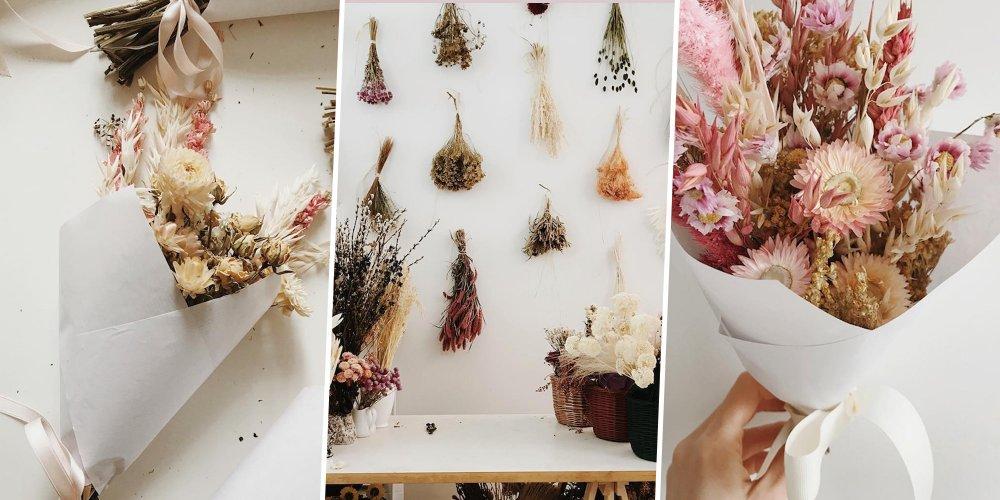 Comment faire scher des fleurs et des plantes  Marie Claire