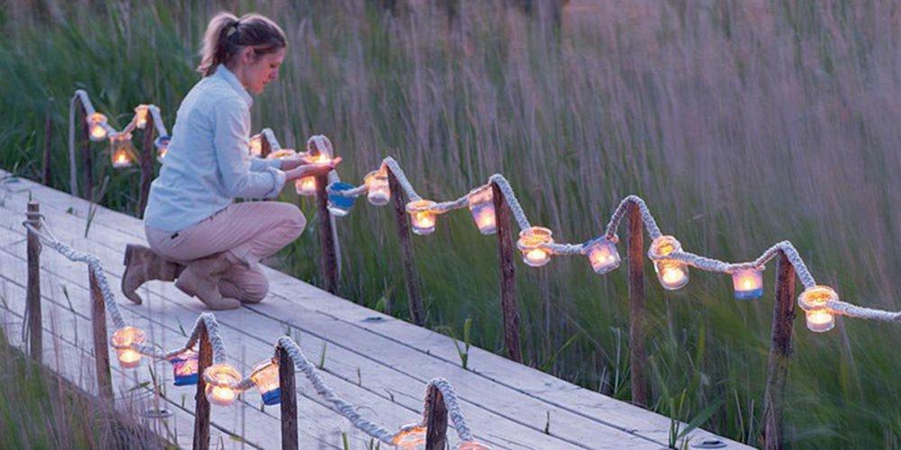 Fabriquer une guirlande lumineuse pour son jardin  Marie Claire