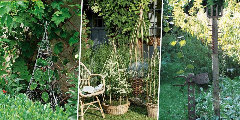 pour fabriquer un tuteur de jardin