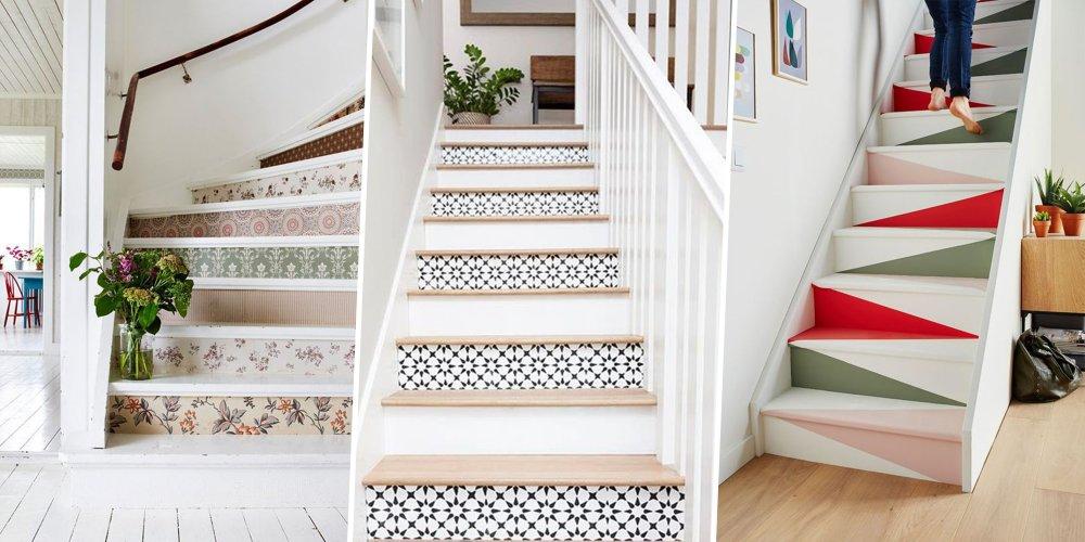 les marches de son escalier