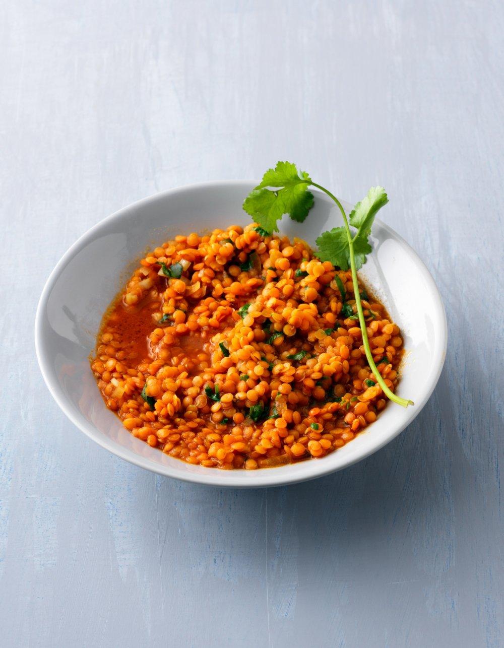 Lentilles Corail à L'indienne : lentilles, corail, l'indienne, Recette, Lentilles, Corail, Marie, Claire