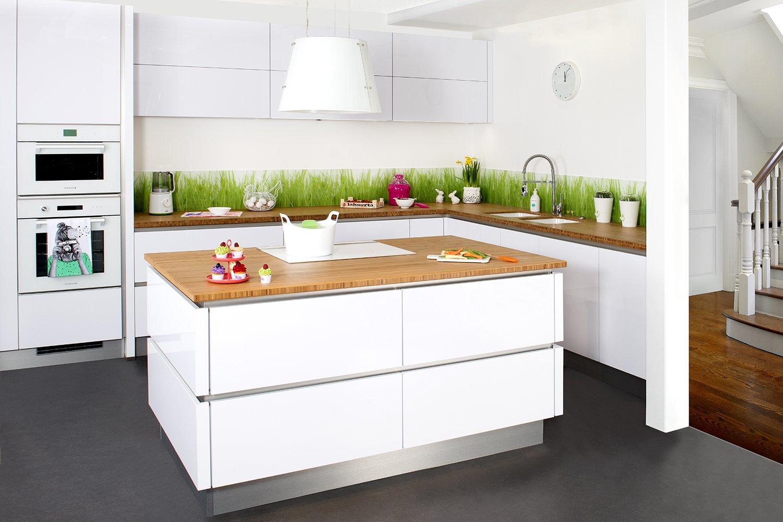 cuisine bois et blanc laqué