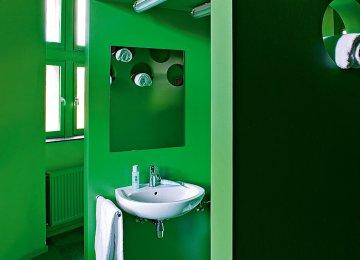 Salle De Bain Vert Anis | Salle De Bain Fushia Et Blanc