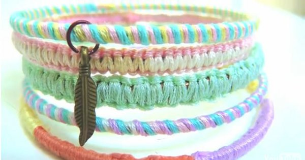 Tuto vido bracelets fil de coton  Marie Claire