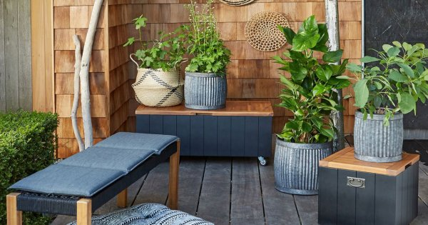 rangement jardin coffre armoire bac