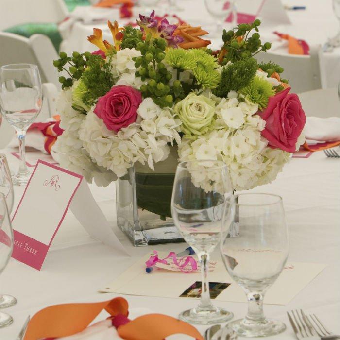 centre de table fleurs