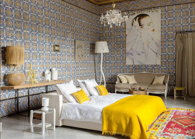 chambre exotique en couleur marie claire