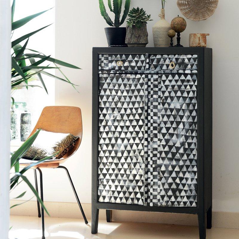 Un meuble peint de motifs gomtriques ethniques  Marie Claire