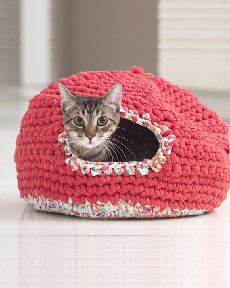 4 tutoriels gratuits pour crocheter un panier pour son chat  Marie Claire