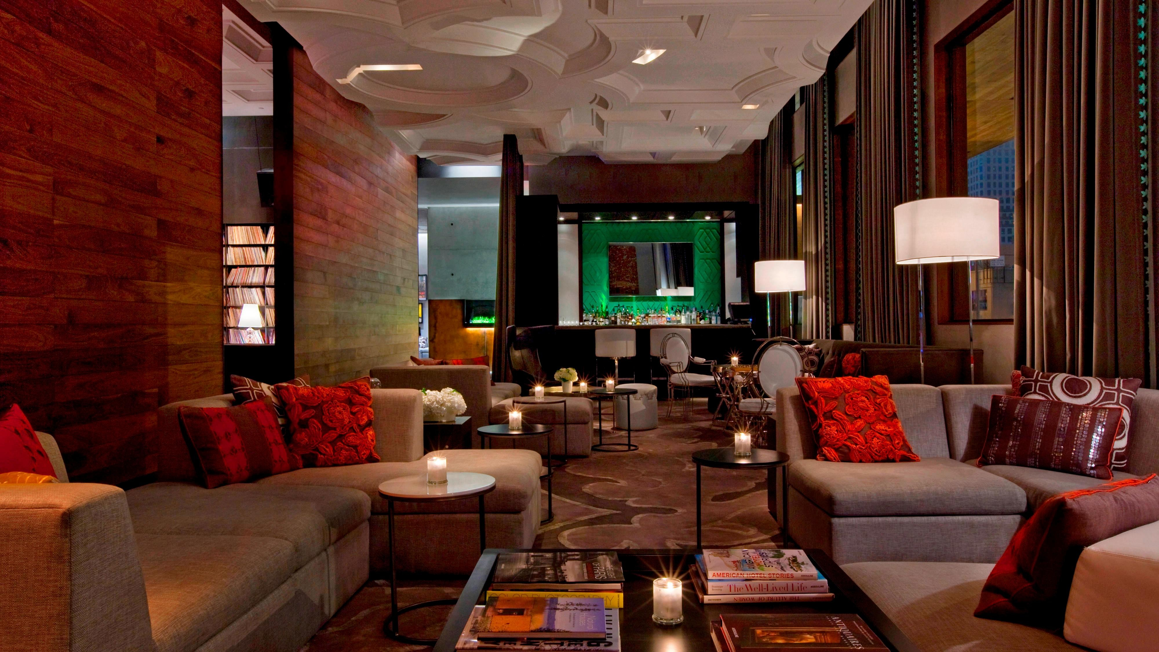 living room theater drink menu small couches hotels in austin tx w tequila bar view