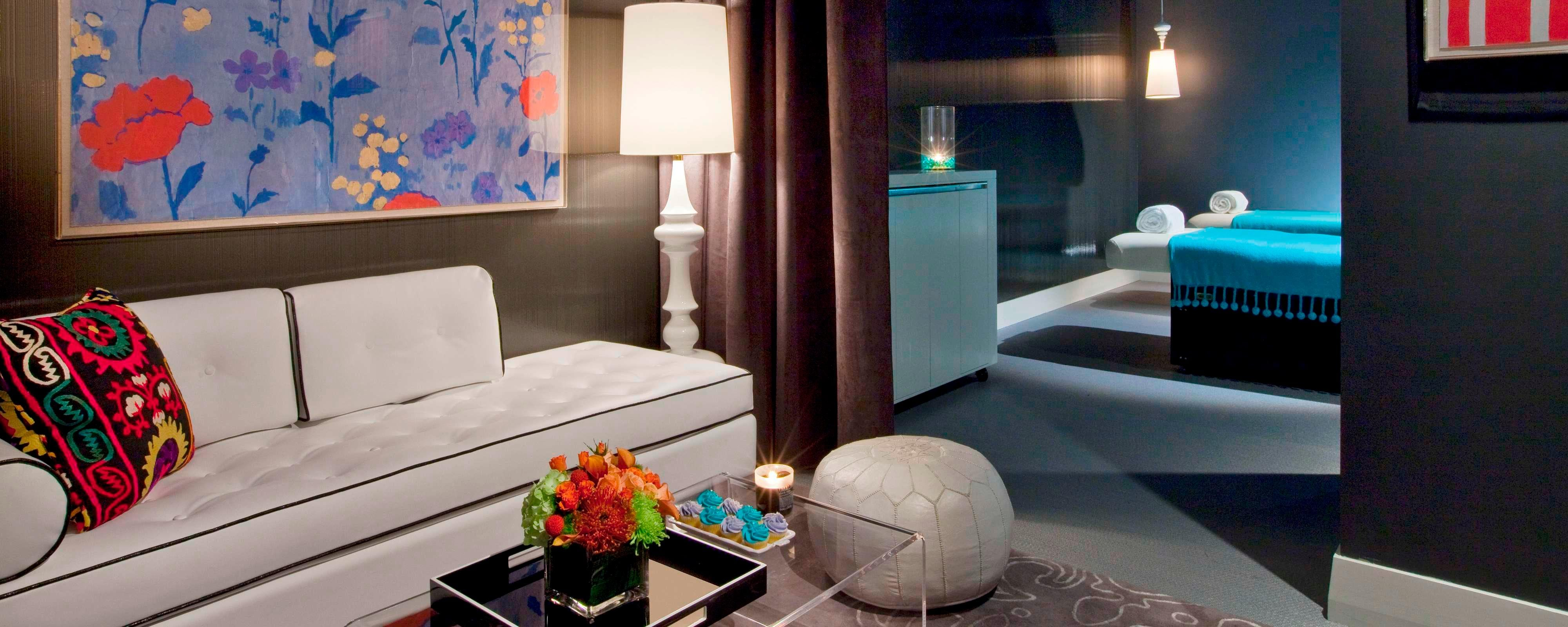 living room theater drink menu egyptian decor hotels in austin tx w soak it at our away spa