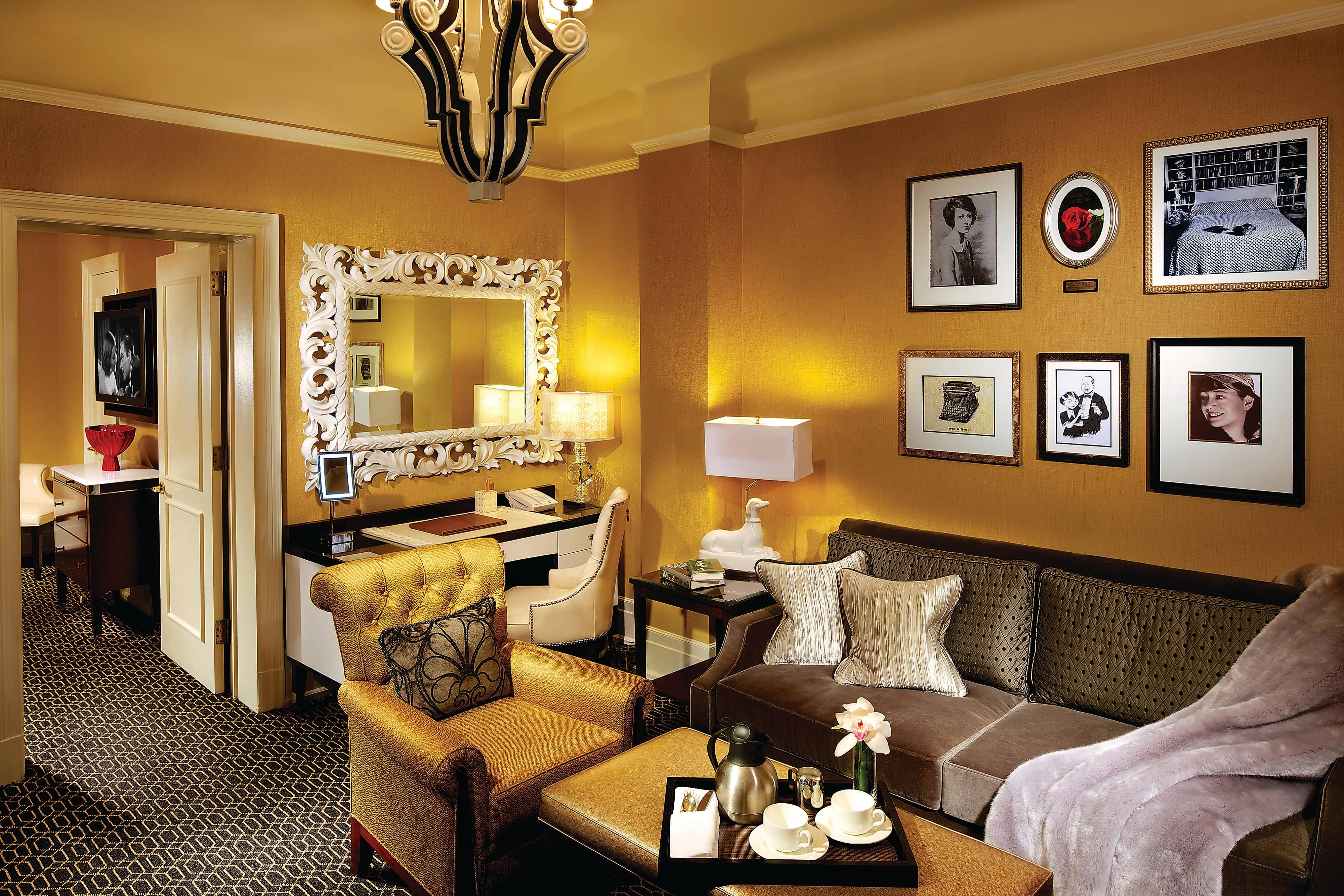 sofa cleaning nyc cost pull out bed bobs furniture historic 4 star hotel the algonquin times square