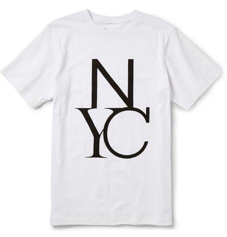 Saturdays Surf NYCNYC Printed Cotton-Jersey T-Shirt