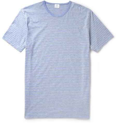 SunspelStriped Cotton-Jersey T-Shirt