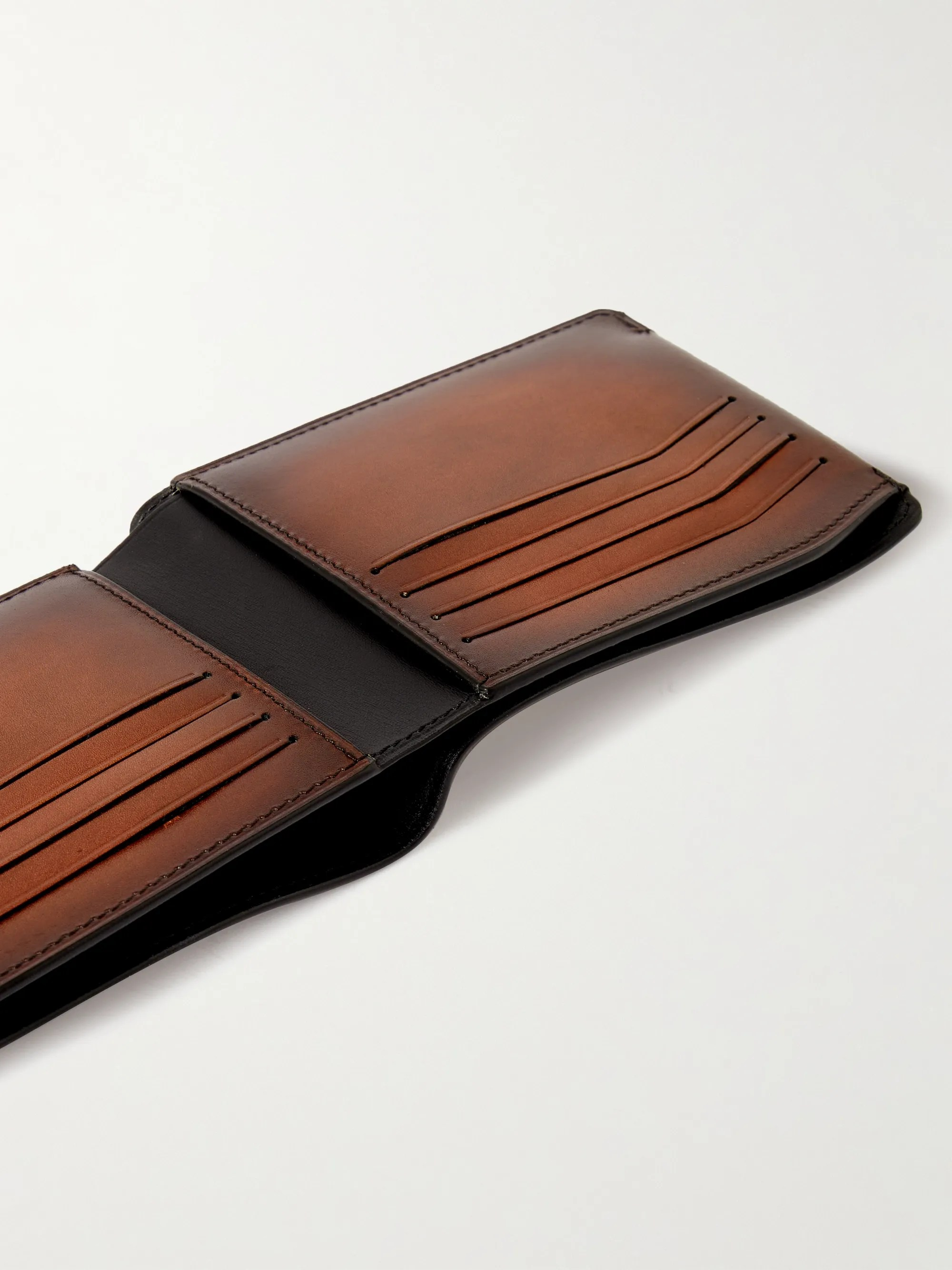 Brown Leather Billfold Wallet | Berluti | MR PORTER