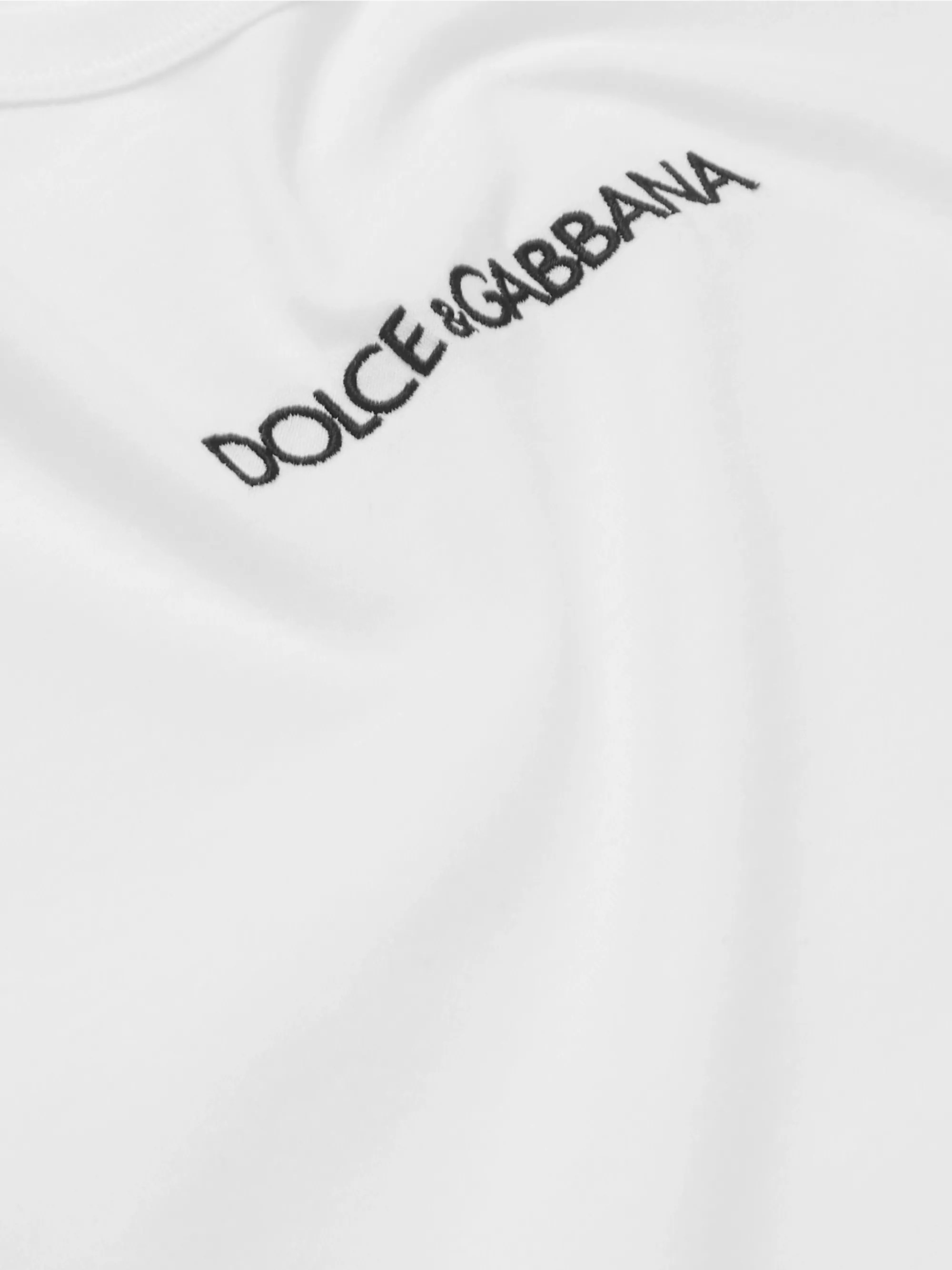 White Slim-Fit Logo-Embroidered Cotton-Jersey T-Shirt