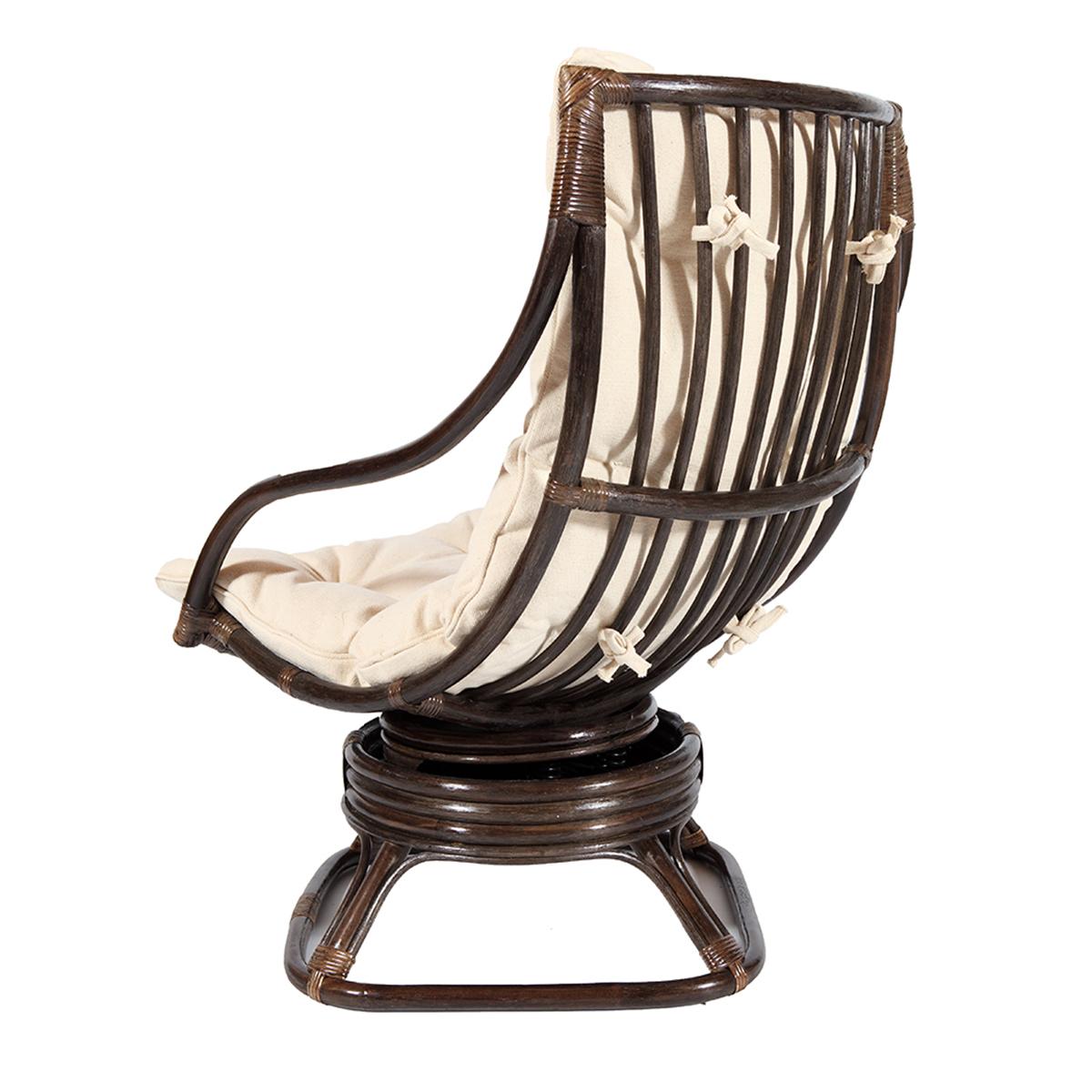 fauteuil pivotant valentino en rotin