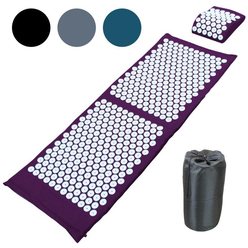 tapis d acupression 130 x 50 cm prune