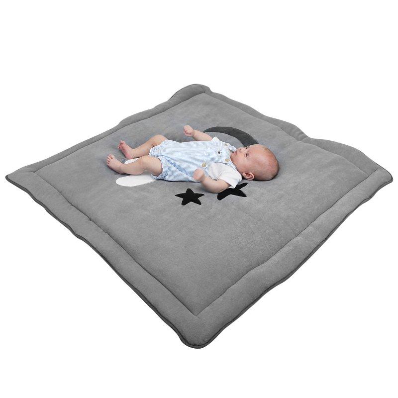 tapis de sol bebe molletonne 1mx1m gris