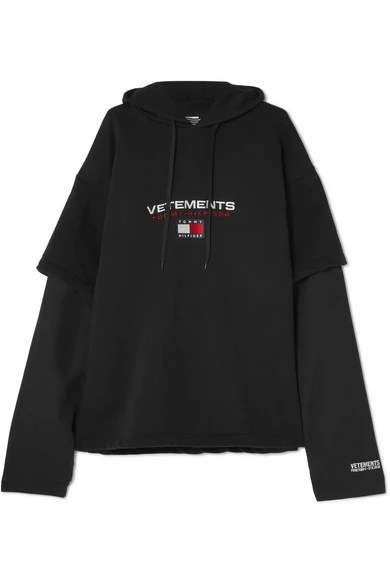 Vetements   Tommy Hilfiger layered embroidered cotton