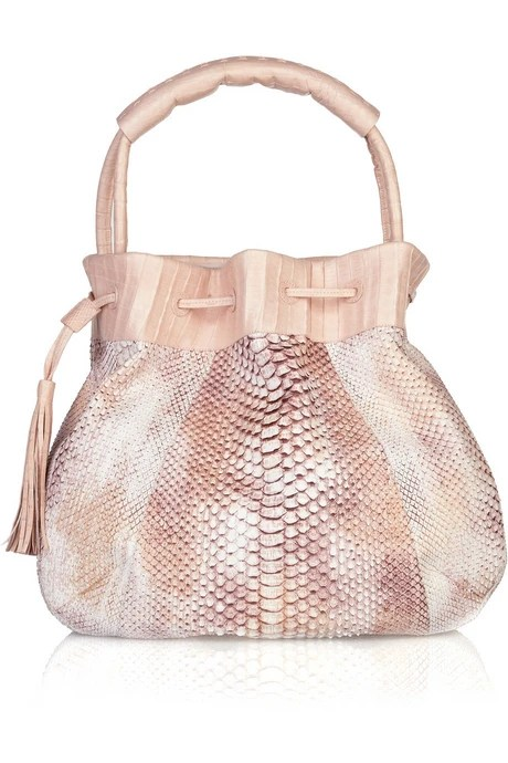 NANCY GONZALEZ Crocodile and python bag