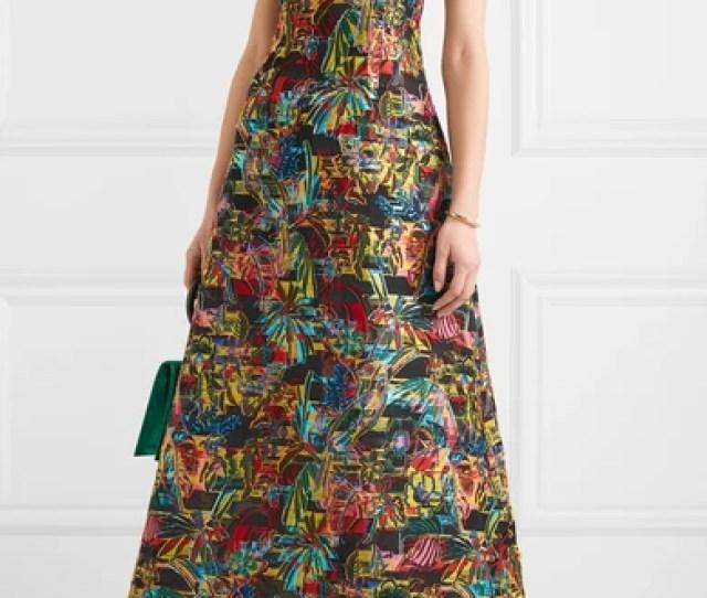 Fil Coupe Halterneck Maxi Dress