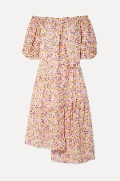 Apiece Apart Floral Midi Dress