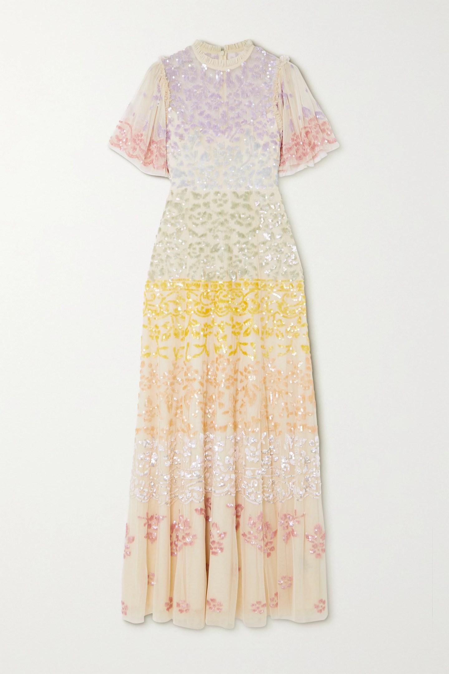 Needle & Thread + Jasmine Hemsley Chakra sequin-embellished tulle gown