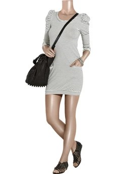 SandroRiva striped jersey dress