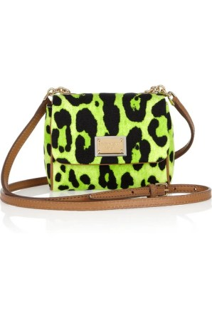 Dolce & Gabbana Printed canvas and leather mini shoulder bag £380