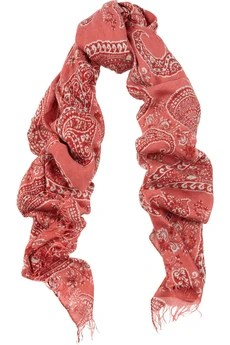 Etro Paisley-print modal and cashmere-blend scarf £315