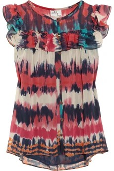 Milly Julia printed cotton-blend chiffon blouse £295