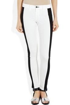 rag & bone JEAN Contrast-stripe mid-rise skinny jeans £165