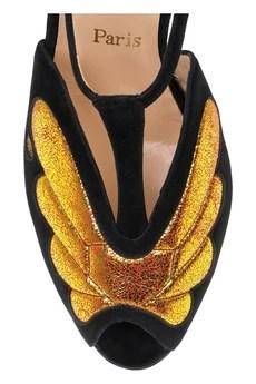 Peplum T-bar Sandals by Christian Louboutin