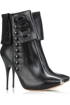 Alexander McQueen Button Trim Boots