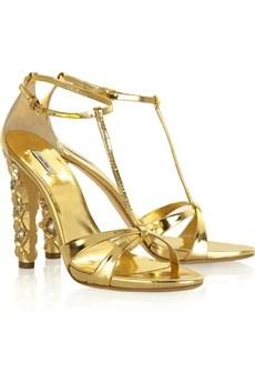 Miu Miu Swarovski platform sandals