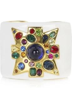 Kenneth Jay Lane Multicolored jeweled cuff