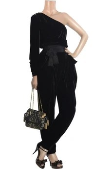ChloéAsymmetric velvet blouse