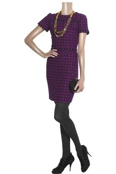 Oscar de la Renta Checked tweed dress