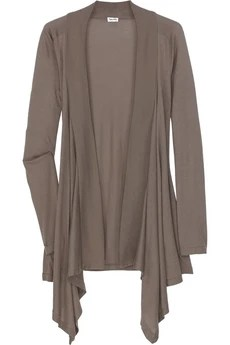 Splendid Draped jersey cardigan