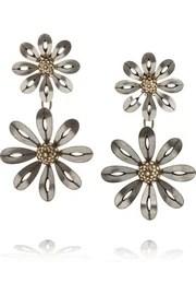 LanvinBoucles d'oreilles clip argentées ornées de cristaux